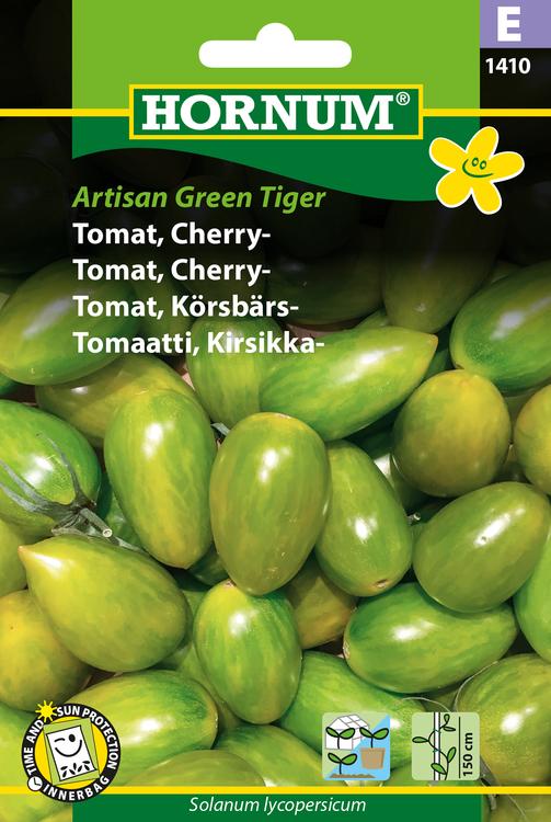 """Körsbärstomat """"Artisian Green Tiger"""""""