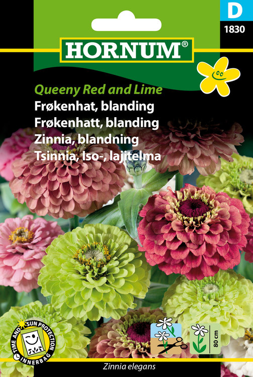 "Zinnia ""Queeny Red & Lime"""