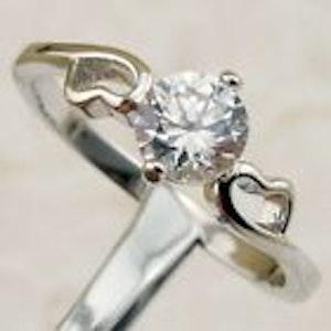 Ring med vit kristall 17.5 mm