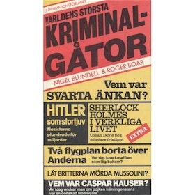 """Blundell, Nigel, """"Världens största kriminalgåtor"""" KARTONNAGE"""