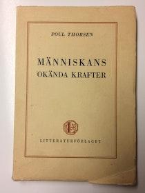 "Thorsen, Poul ""Människans okända krafter"" HÄFTAD"