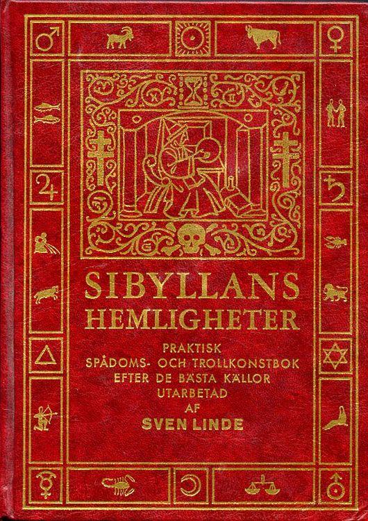 """Linde, Sven, """"Sibyllans hemligheter"""" INBUNDEN MED GULDSNITT"""
