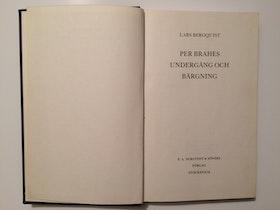 """Bergquist, Lars """"Per Brahes undergång och bärgning"""" INBUNDEN"""