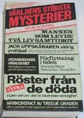 """Blundell, Nigel, """"Världens största mysterier"""" KARTONNAGE SLUTSÅLD"""