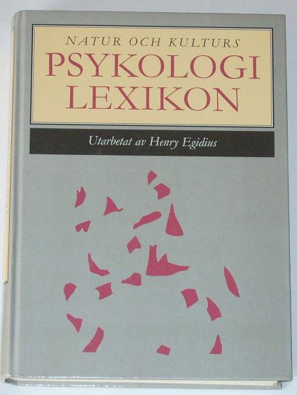 "Egidius, Henry, ""Psykologilexikon"" KARTONNAGE"