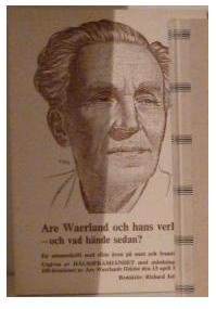 """Jobson, Richard (red.) """"Are Waerland och hans verk - vad hände sedan?"""" MKT FINT SKICK, ENDAST 1 EX!"""