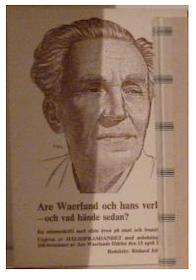 """Jobson, Richard (red.) """"Are Waerland och hans verk - vad hände sedan?"""" HÄFTAD"""