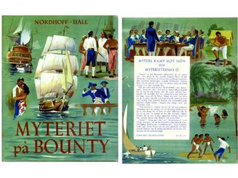 """Nordhoff,Charles & Hall, Norman James """"Myteriet på Bounty"""" INBUNDEN"""