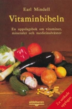 """Mindell, Earl """"Vitaminbibeln - en uppslagsbok om vitaminer, mineraler och medicinalväxter"""" HÄFTAD SLUTSÅLD"""