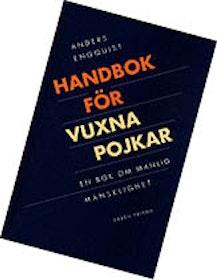 """Engquist, Anders """"Handbok för vuxna pojkar - En bok om manlig mänsklighet"""" KARTONNAGE"""