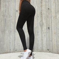 Narrow Fitness-tights Black
