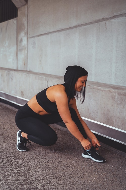 Narrow Fitness-tights Black