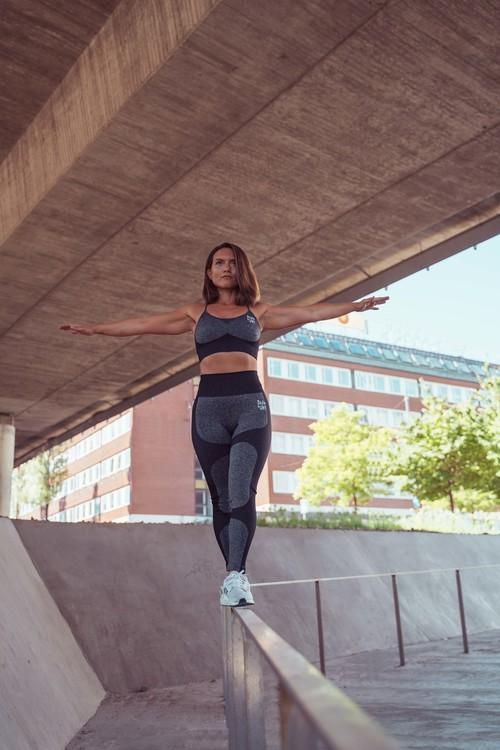 Zhiva Fitness/gym-tights svart