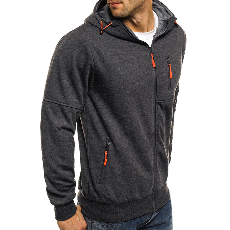 Gym Hoodie Dark Grey/orange