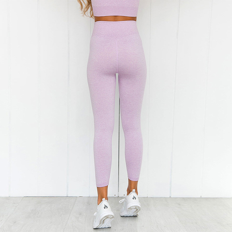 Chia ribbed Soft Rose Gym/Yoga-set