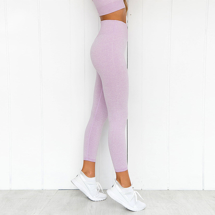 Chia Ribbed Soft Rose Gym/Yoga-tights