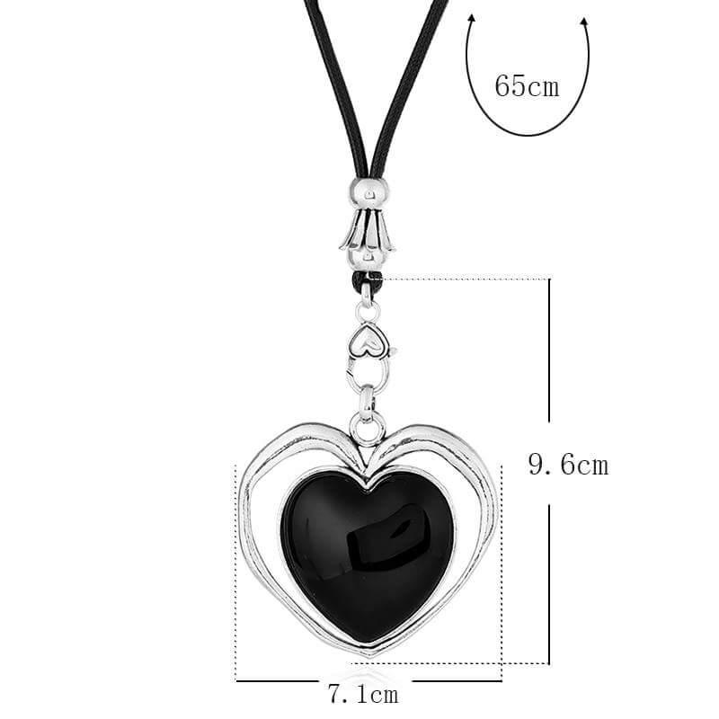 Halsband Black Heart.