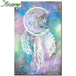 Diamanttavla (R)  Dreamcatcher Moon 40x50