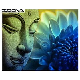 Diamanttavla Buddha Lotus 40x50