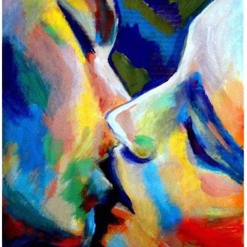 Diamanttavla (R) Color Kiss 50x70