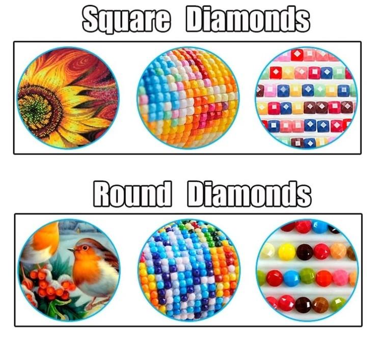 Diamanttavla Rose Hands Rings 50x70