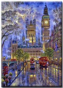 Diamanttavla London By Night  40x50