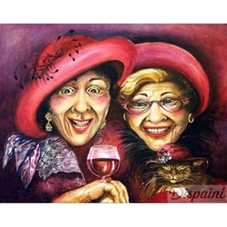 Diamanttavla (R) Lady Friends 40x50