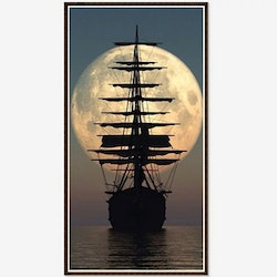 Diamanttavla (R) Ship Fullmoon 50x70