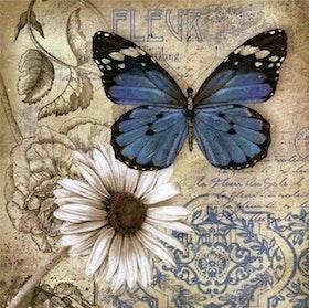 Diamanttavla (R) Butterfly Fleur 40x40