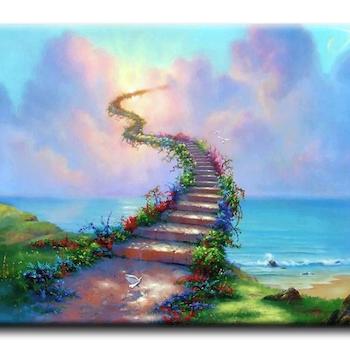 Diamanttavla (R) Stairways To Heaven 50x70 - Leveranstid 1-3 Dagar