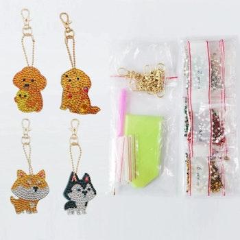 Nyckelringar Elefanter 4-pack