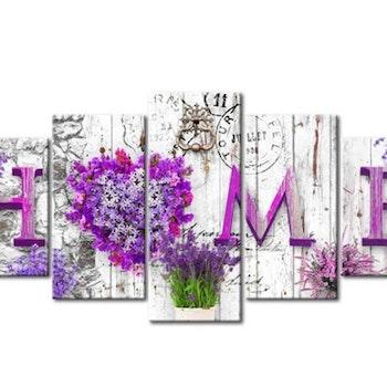 Diamanttavla (R) 5 Delad Home Lavendel