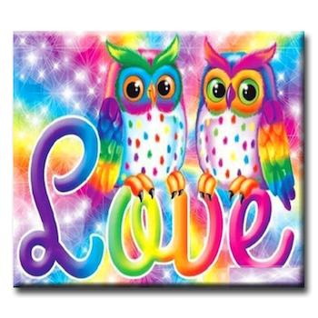 Diamanttavla Owl Love 40x50