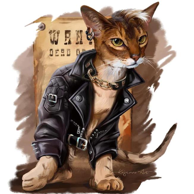 Diamanttavla Cartoon Cat With Jacket 50x50 - Leveranstid 1-3 dagar