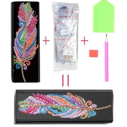 Diamond Painting Glasögonfack Color Flower - Leveranstid 1-3 Dagar