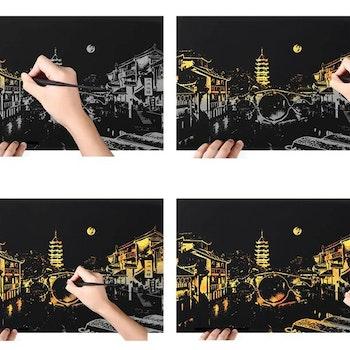 Scratch Painting Bei Jing 41x28,7 cm - Leveranstid 1-3 Dagar