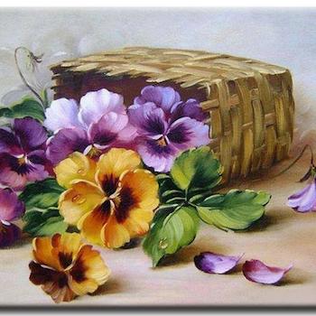 Diamanttavla Flowers 40x50 - Leveranstid 1-3 Dagar