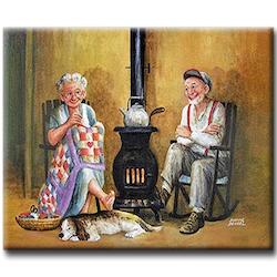 Diamanttavla (R) Eldery Couple 40x50 - Leveranstid 1-3 Dagar