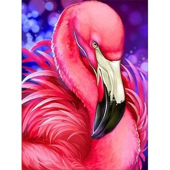 Diamanttavla (R) Flamingo 40x50 - Leveranstid 1-3 Dagar
