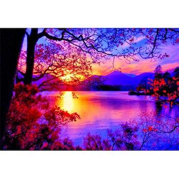 Diamanttavla Sunset View 50x70- Leveranstid 1-3 Dagar