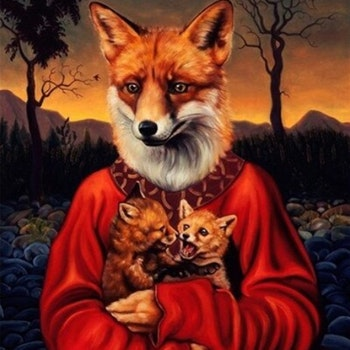 Diamanttavla (R) Fox Art 40x50 - Leveranstid 1-3 Dagar