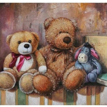 Diamanttavla Toy Bear And Ior 40x50 - Leveranstid 1-3 Dagar