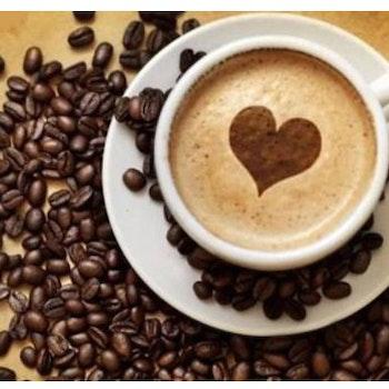 Diamanttavla (R) Hjärta Kaffe 30x40 - Leveranstid 1-3 Dagar