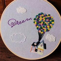 Övriga Broderie Dream Airballoon 20x20