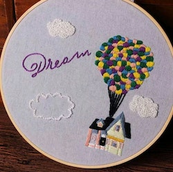 Övriga Broderie Dream Airballoon 20x20
