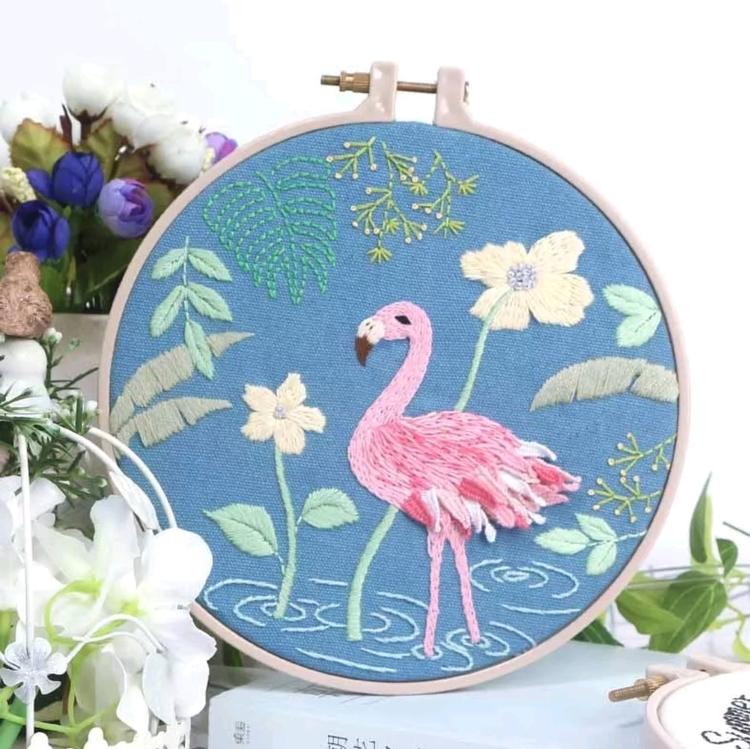 Övriga Broderier Flamingo 15x20