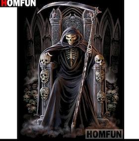 Diamanttavla Skull King 40x50