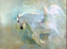 Diamanttavla Beautiful Pegasus 40x50