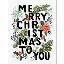 Diamanttavla Merry Christmas 40x50