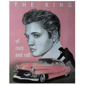Diamanttavla Elvis Pink Car 40x50